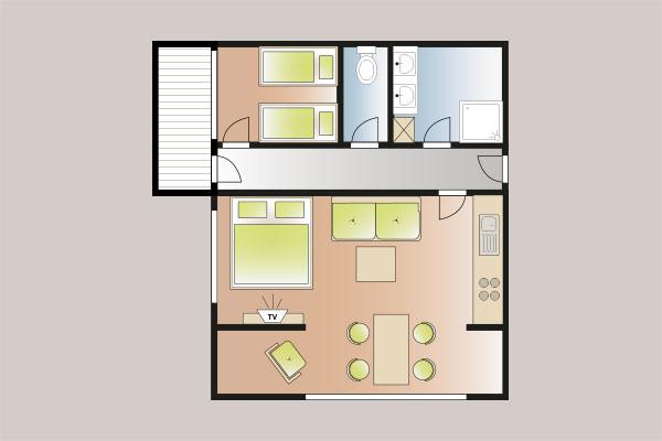 appartement elfer wohnen preise ferienwohnungen landhaus sonnegg in riezlern im kleinwalsertal. Black Bedroom Furniture Sets. Home Design Ideas